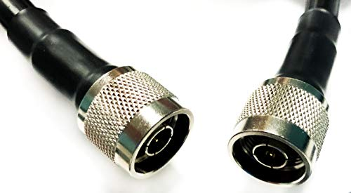 Cable Assemblies Now - LMR-400 N Male to Nmale (NM-NM) 3 FT Coaxial Cable Assembly Made with Genuine Times Microwave 50 ohm Coax (3 FEET in Length)