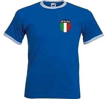 Italia Italiano Italia Retro Estilo Nacional Equipo De Fútbol Camiseta Jersey - Chica: Amazon.es: Deportes y aire libre