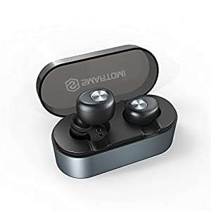 Mini Wireless Earphones SMARTOMI ACE with Portable Charging Case 500mAh, True Wireless Earbuds with Mic, Bluetooth Headphones Cordless Headset Earphones Compatible with iPhone iPad Android Smartphones