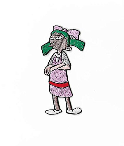 [Helga G.Pataki Punk Patch (4 Inch) Hey Arnold Embroidered Sew/Iron-on Applique Green Hair Punk Rockabilly Costume Badge] (Helga Hey Arnold Costume)