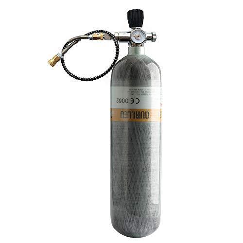 Gurlleu 30 Cu.Ft Carbon Fiber Tank 4500 PSI Filling Station & Charging System for PCP Air Guns Scuba SCBA (Tank & Valve Set)