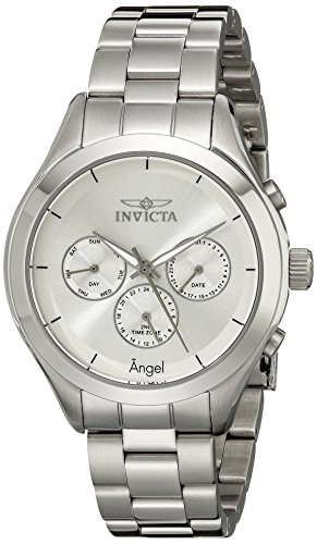 Invicta Women's 12465 Angel Silver Dial Stainless Steel Watch (Invicta Womens Silver Dial)