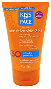 Kiss My Face Water Resistant Oat Protein Sun Screen SPF 30-4 oz