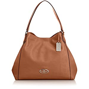 Coach Edie Medium Leather Shoulder Bag.