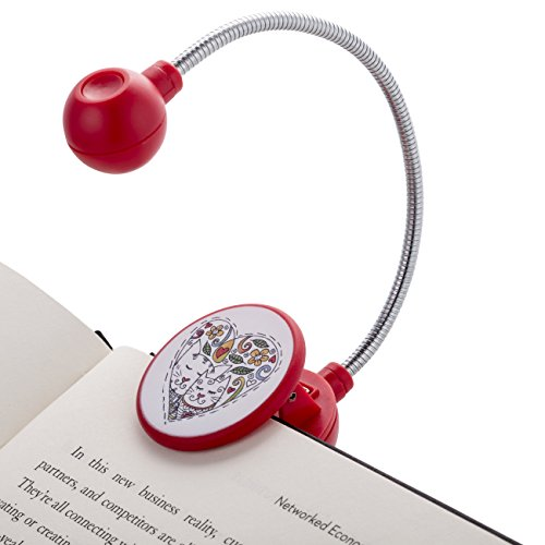 WITHit Disc Reading Light - LED Book Light with Chrome Neck for Books, E-Reader and E-Book Light... (Cat)