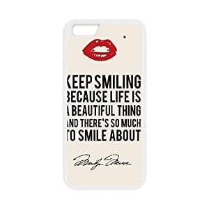 """Iphone6 Plus 5.5"""" 2D Customized Hard Back Durable Phone Case with Marilyn Monroe Quote Image"""
