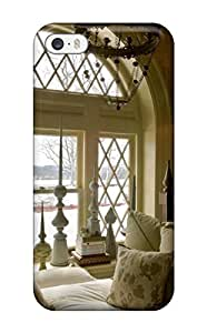 Ultra Slim Fit Hard Nicolartin Case Cover Specially Made For Iphone 5/5s- Beige Storybook Children8217s Room With Arched Window And White Bedding