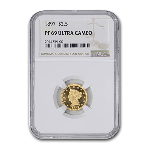 (1897 $2.50 Liberty Gold Quarter Eagle PF-69 UCAM NGC $2.50 PF-69 NGC)