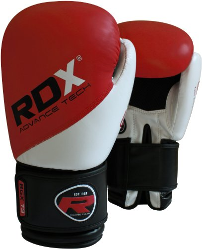 RDX Rex Leather Boxing Gloves Fight Punch Bag MMA Muay Thai Grappling Pads UFC R