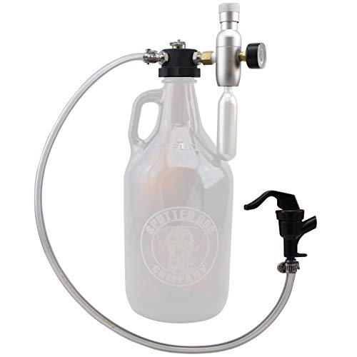 Pressurized CO2 Growler Dispenser Tap for Glass Beer Growlers