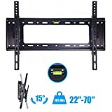 "New Flat TV Wall Mount Bracket 15°Tilt Swivel For 27""32""37""42""47""50""55""60""65""70 inch"