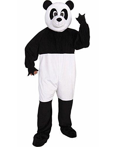 Forum Promotional Mascot Panda Costume, Black/White, Standard -