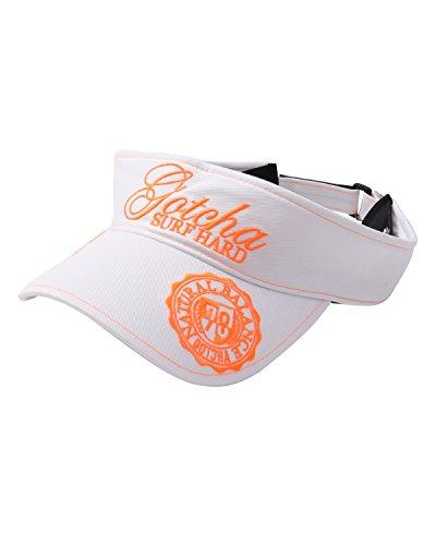 [ガッチャ ゴルフ] GOTCHA GOLF バイザー ネオン使い サンバイザー 182GG8705 オレンジ Fサイズ