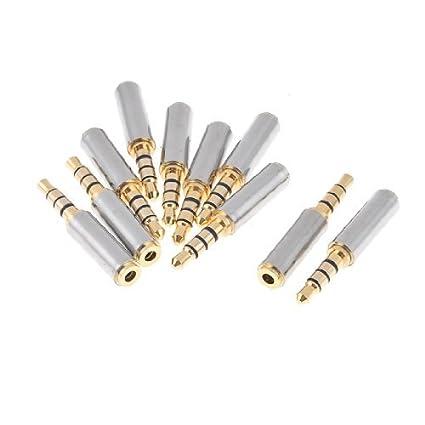 eDealMax 10 piezas DE 3,5 mm conector DE 2,5 mm estéreo Macho