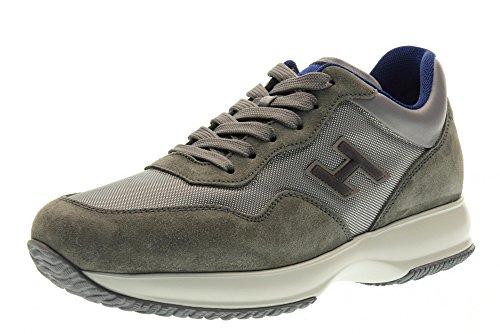 HOGAN hombre bajas zapatillas de deporte HXM00N0U410FJ84633 INTERACTIVA GRIS
