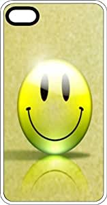 Happy Organic Smiley Face Clear Rubber Case for Apple iPhone 4 or iPhone 4s