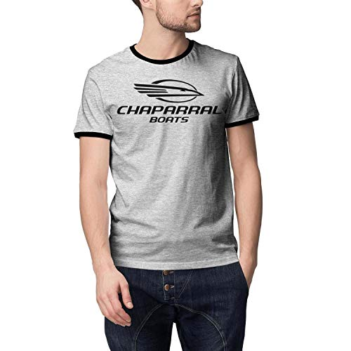 XAAI Men's Short-Sleeves Fashion Comfort T Shirt Chaparral Boats Decal Logo Black Color Shirt for Men