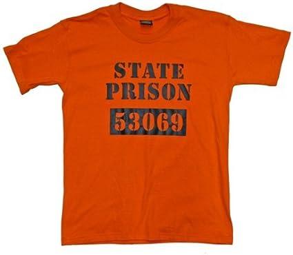 Dallaswear Estado Prisión Jail Preso Camiseta - Naranja, Mediana: Amazon.es: Ropa y accesorios