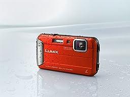 Panasonic Lumix DMC-TS25 16.1 MP Tough Digital Camera with 8x Intelligent Zoom (Red)