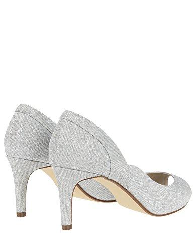 Monsoon Chaussures étincelantes Ouvertes AU Bout Esmerelda - Femme Argent jbK3mlzZe