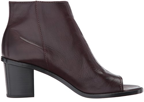 Peep FRYE Zip Full Soft US Brielle Bootie Wine Women's M Boot Polished Grain 9 gxxwrTtEq