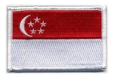 Matrix Velcro Singapore Flag Patch