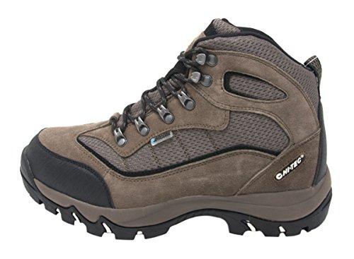 Hi-Tec Men's Skamania Mid WP Hiking Boot (9.5 D(M) US, Smokey Brown/Olive/Snow/Black)