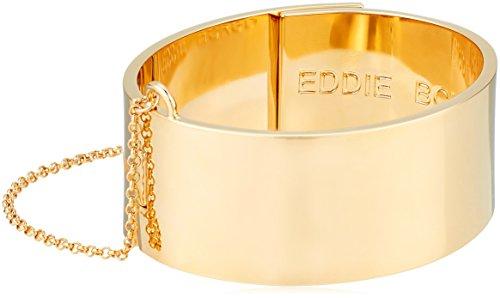 EDDIE BORGO Safety Chain Gold Cuff Bracelet by EDDIE BORGO