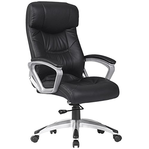 YAMASORO High Back Executive Chair PU Leather Ergonomic Computer Desk Chair,Thick Padding for Comfort and Ergonomic Design For Lumbar Support Capacity 350 lbs