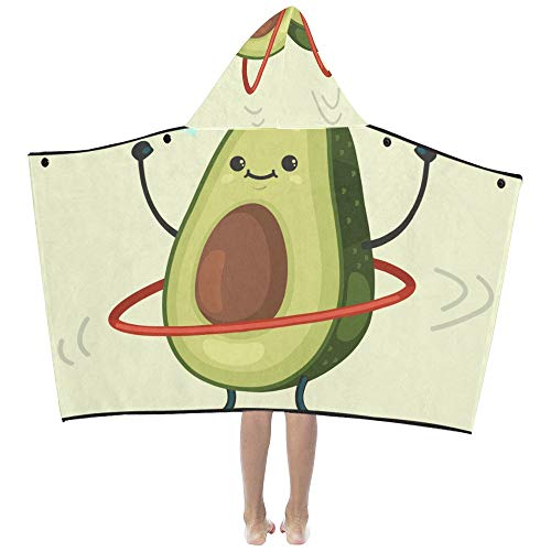 Yngxil Cute Avocado Cartoon Vegetable Soft Warm Cotton Blended Kids Dress Up Hooded Wearable Blanket Bath Towels Throw Wrap for Toddlers Child Girls Boys Size Home Travel Picnic Sleep Gifts Beach