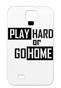 Artist Satire Playing Pick Up Funny Gaming Games Game Play Anti-scratch Black Hard Or Go Home Cover Case For Sumsang Galaxy S4