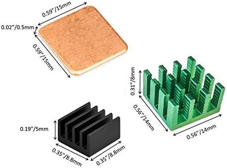 Pi Model B+ 3B Pi 2 Easycargo Raspberry Pi Heatsink Fan Kit for Cooling Cooler Raspberry Pi 3B+ Black 1 Pack