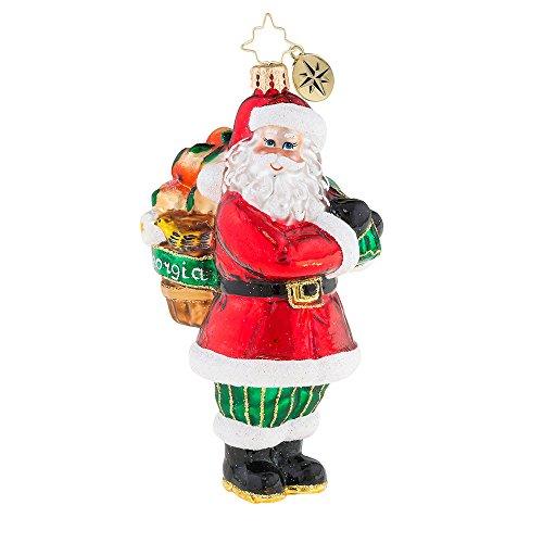 Christopher Radko A Peach Of A Santa Christmas Ornament