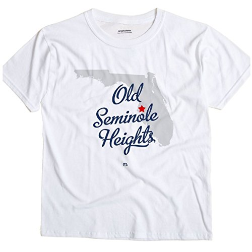 Old Seminole Heights Florida FL, Neighborhood of Tampa MAP GreatCitees T Shirt