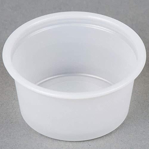 (Gordon Food Service 200PC .75 oz Plastic Souffle Portion Cup, Crafts Translucent, 200/Pack)