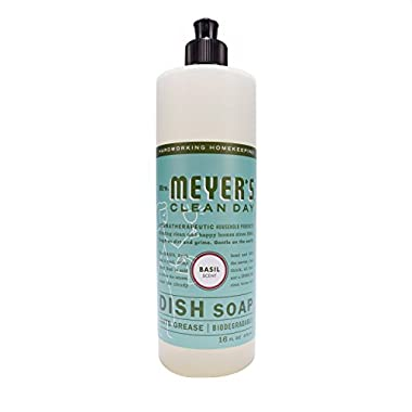 Mrs. Meyer's Dish Soap Basil, 16 Fluid Ounce (Pack of 3)
