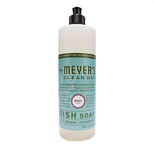 (Mrs. Meyer's Dish Soap Basil, 16 Fluid Ounce (Pack of)