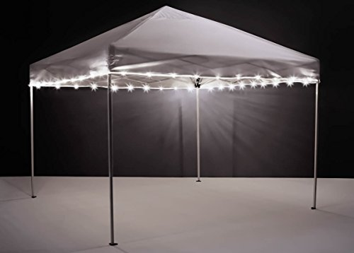 LED Tailgate Canopy and Patio Umbrella Accessory Light (Lights Only), White ()