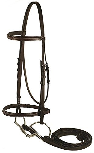 GATSBY LEATHER COMPANY 282650 Fancy Snaffle Bridle Havanna Brown, Cobb