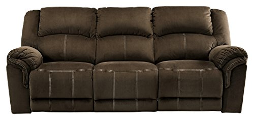 Signature Design by Ashley 9570188 Quinn Lyn Reclining Sofa, Coffee Brown Reclining Sofa