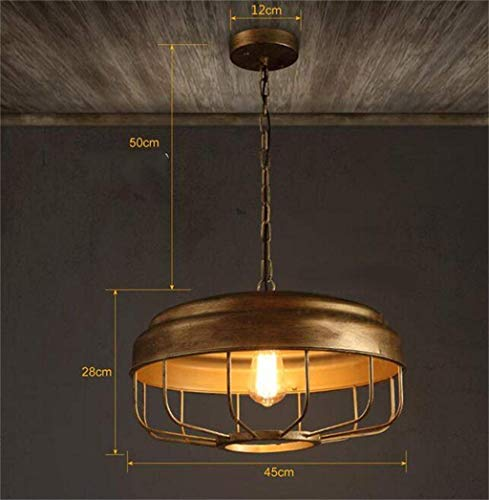 - Oudan The Vintage American Restaurant Industry Minimalist Lamps, Personality, Creative Arts Bronze Gilded Chandeliers The Light Source Not Containing The Bar (Color : -, Size : -)