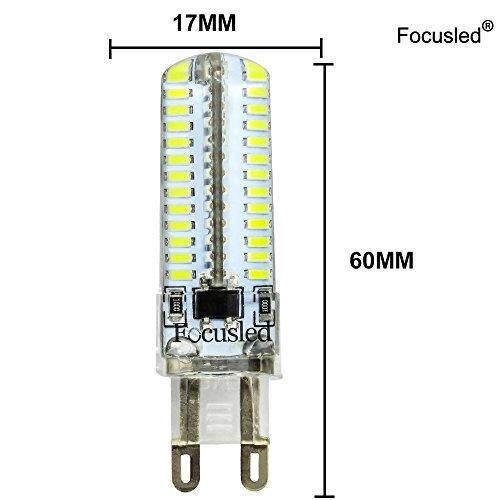 ELINKUME G9 SMD 3014 Bombilla LED AC220V G9 7W llevó la lámpara LED de las bombillas 220V del bulbo del proyector G9 en lámpara de cristal blanco frío (10 ...