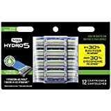 Schick Hydro Sense Sensitive Mens Razor Blade Refill with Sensitive Gel, Includes 12 Razor Blades Refills