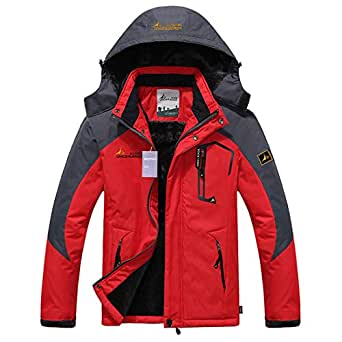 Alomoc Men's Winter Hiking Jacket Waterproof Softshell