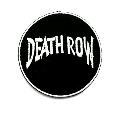 Wasuphand Death Row Records Rock Band Patch Sew On Iron Embroidered Heavy Metal Music DIY Bag Vest Gift Jeans Denim Badge Costume ()