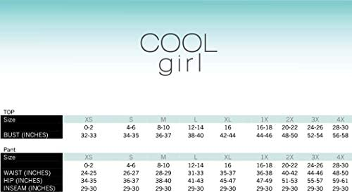 Cool Girl Women's Relaxed Cooling V-Neck T-Shirt with High Low Hem Sleep T-Shirt