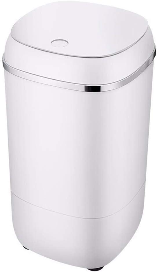 XHCP Portable Washing Machine Portable Washing Machine Mini Camping Washing Machine Mini for Compact Laundry,Small Semi-Automatic Compact Washer with Timer Control Single Tub (White/Black, 9.9lbs)