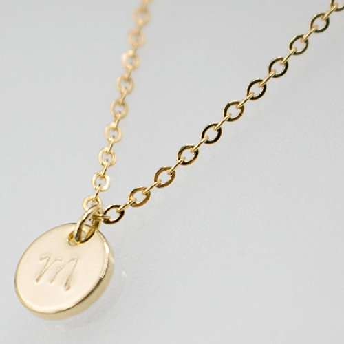 Amazon 16k gold silver rose gold disc necklace dainty 16k gold silver rose gold disc necklace dainty personalized plate delicate initial small circle pendant aloadofball Gallery
