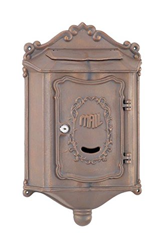 Colonial Wallmount Mailbox w 6.5 in. Mail Flap by Amco Classic Mailbox