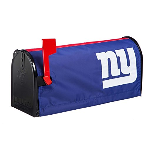 - Ashley Gifts Customizable Embroidered Applique fabric NFL Mailbox Cover, New York Giants